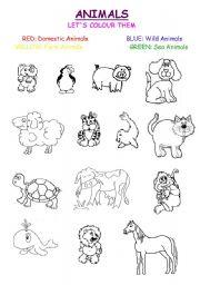 English Worksheets: Mix Animals