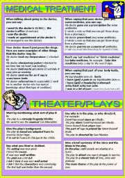 English Worksheet: MEDICAL TREATMENT - THEATER/PLAYS