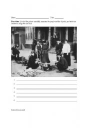 English worksheets: Great Depression picture prompt