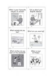 English Worksheets: Questions 1