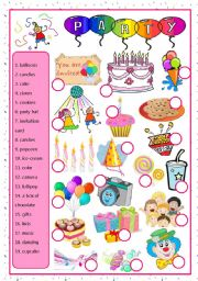 English Worksheet: party-matching