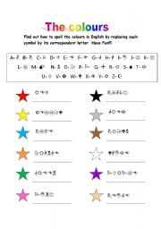 English Worksheet: colours detective game
