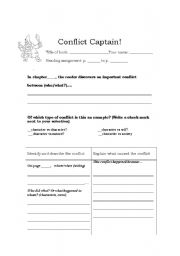 Conflict Captain (Literature Circles role sheet for identifying ...
