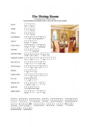 English Worksheet: The dining room