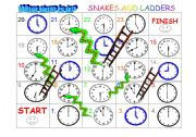 English Worksheet: Time SNakes and Ladders