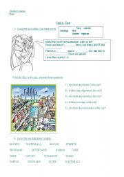 English Worksheet: City or Country? Test (Pocahontas)