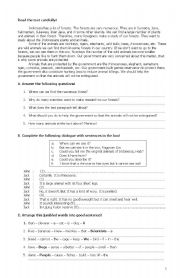 English Worksheets: animals 3