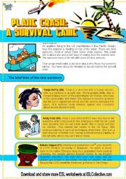 English Worksheets: Plane Crash Survivors (Debate 2.) New characters Intermediate
