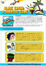 English Worksheets: Plane Crash Survivors (Debate 2.) New characters Pre-Intermediate