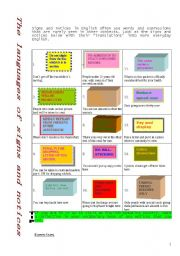 English Worksheets: Signlas and notices
