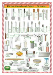kitchen utensils and cutlery-pictionary