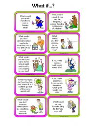 Second Conditional Speaking cards - Set 2/3