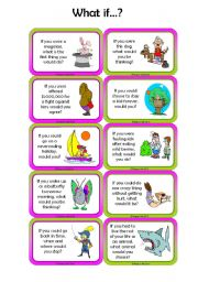 English Worksheet: Adults & Children - 2nd Conditional Conversation Cards