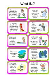 English Worksheet: Conditional II Speaking Cards - Set 3/3