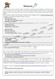 English Worksheet: Sherlock Holmes�s webquest