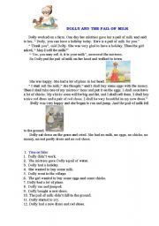 English Worksheets: Dolly and the pail of milk