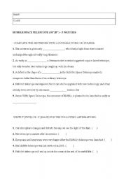 English teaching worksheets: Solar System
