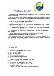 English Worksheets: THE MAGIK BASKET