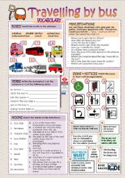 English Worksheet: TRAVELLING BY BUS