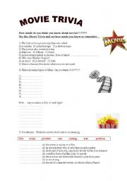 English Worksheet: Movie Trivia