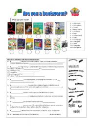 English Worksheets: are you a bookworm?