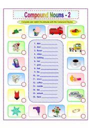 English Worksheets: Compound Nouns -2/2
