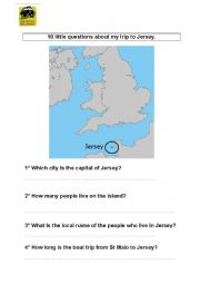 English Worksheets: QUIZZ SUR JERSEY