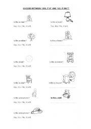 English Worksheet: Choose between