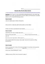 Edgar Allan Poe - Biography Worksheet