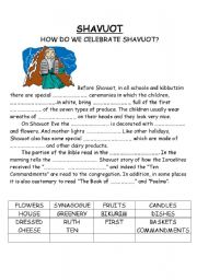 English Worksheets: Shavuot