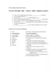 English worksheet: IELTS VOCABULARY EXERCISES