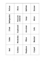 English Worksheet: furniture flashcards