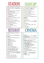 English Worksheet: role play situations