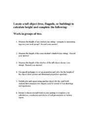English Worksheets: Similar Figures Activity