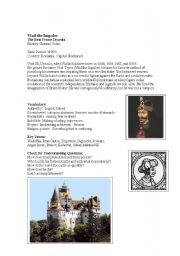 English Worksheets: Vlad The Impaler Movie Guide