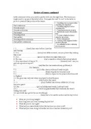 English Worksheet: Narrative tenses