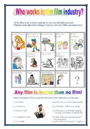 English Worksheets: Who works in the film industry?