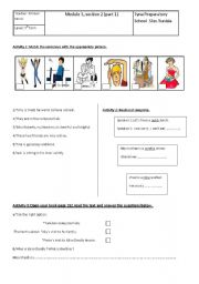 English Worksheets: module 5,section 2 part 1