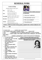 English Worksheets: coretta scott