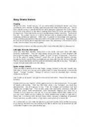 English Worksheet: Easy drama games