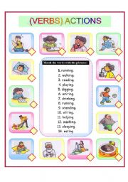 English Worksheets: ACTIONS ( Verbs)