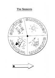 English Worksheet: The Seasons Wheel