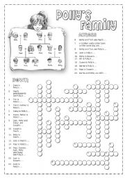 English Worksheet: Family crosswords