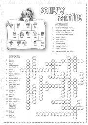 English worksheet: Family crosswords