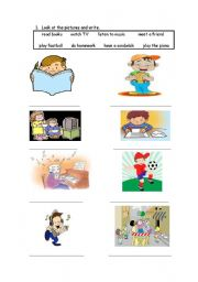 English Worksheets: After school actions