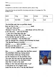 English Worksheet: Gruffalo English