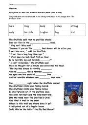 English Worksheets: Gruffalo English