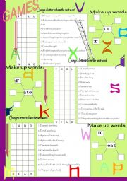 English Worksheets: WORD GAMES