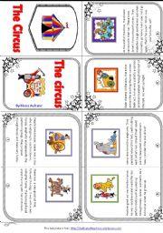 English Worksheet: My Circus mini book