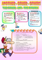 English Worksheet: Another - other - others